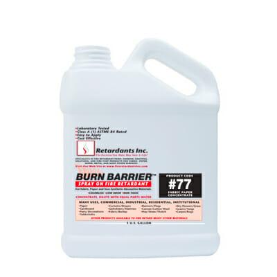 Burn barrier 77